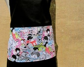 ANIME-ZING full size childrens black apron with anime character pockets