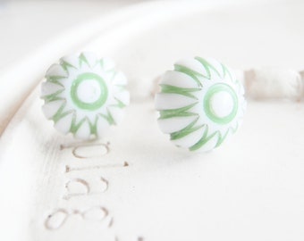 Holiday Stud Earrings - Wintergreen Candy
