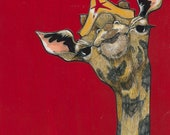 Saucy Wonder Giraffe- Medium Print 5x7