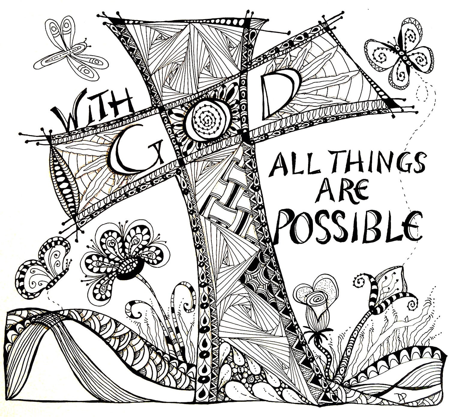 Items similar to with god all things are possible on etsy