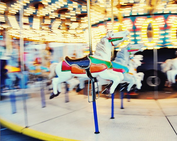 Nursery Photography, Horse Photography, Carnival Photography, fpoe, Childrens Room, Bokeh, Summer - Magical Horse Race