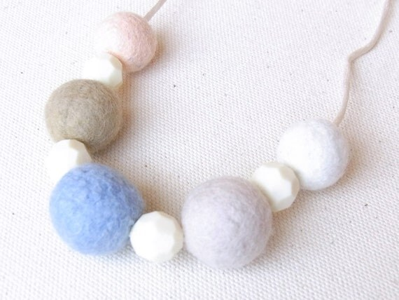 Kid Friendly - R's Felt Ball Necklace K-A