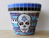 Dia De Los Muertos - Unique mosaic planter