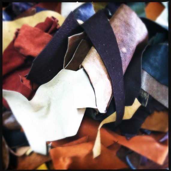 SALE... 10 percent off - 1/2 a  pound Lambskin soft  Leather Remnants (generous pieces),  EARTHY COLORS and some surprises, hand selected