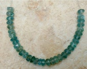 "3"" mini strand APATITE 3-4mm Faceted Rondelle Gemstone Beads ETSY-A"