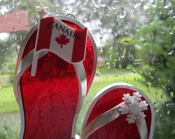 Canada Suncatcher Flipflops