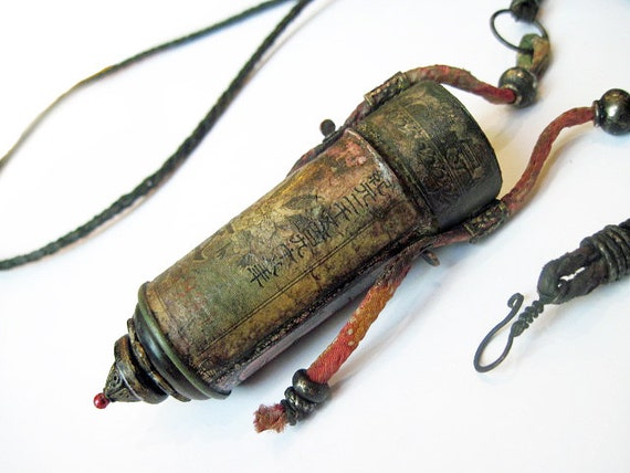 How to End an Era. Long Gypsy Tribal Container Necklace.