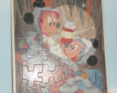 Vintage Walt Disney Puzzle - Mickey and Minnie Mouse Puzzle - Frame Tray Puzzle - Childrens Puzzle - Large Puzzle