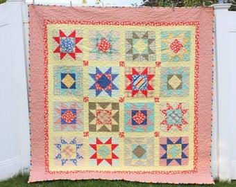 Seaside Stars Quilt Pattern PDF