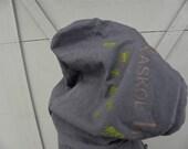 "Medium Hoodie - Asphalt Gray - Raskol Ink. - ""Ants Underground"" Design"