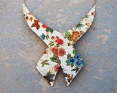 Bow Tie Collar Necklace - Garden Floral Recycled Tin - Views from a Tin Collection