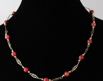 Glass Bead Necklace. Listing 109303685
