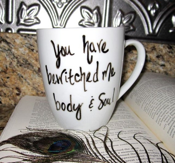 Pride and Prejudice, Hand Written Mug