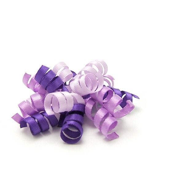 Purple Korker Bow, Mini Korker, Satin Korker Barrette, Baby, Toddler, Girls