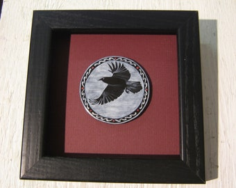 Grisaille Enamel Raven