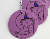 Halloween Witch Tags Best Witches - Set of 6