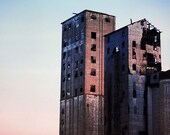 CUSTOM LISTING - The Grain Elevators & The Yellow Chair Photograph 11x14