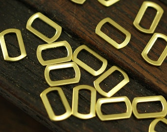 Rectangle Brass Connector, 500 Raw Brass Rectangle Connector Findings (6x4mm) Brs 30091