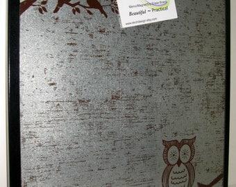 OWL ..Magnetic Dry Erase Memo Board / Message Board / Housewarming Gift / Desk / Coworker / Office Decor / Organization / Bulletin Board