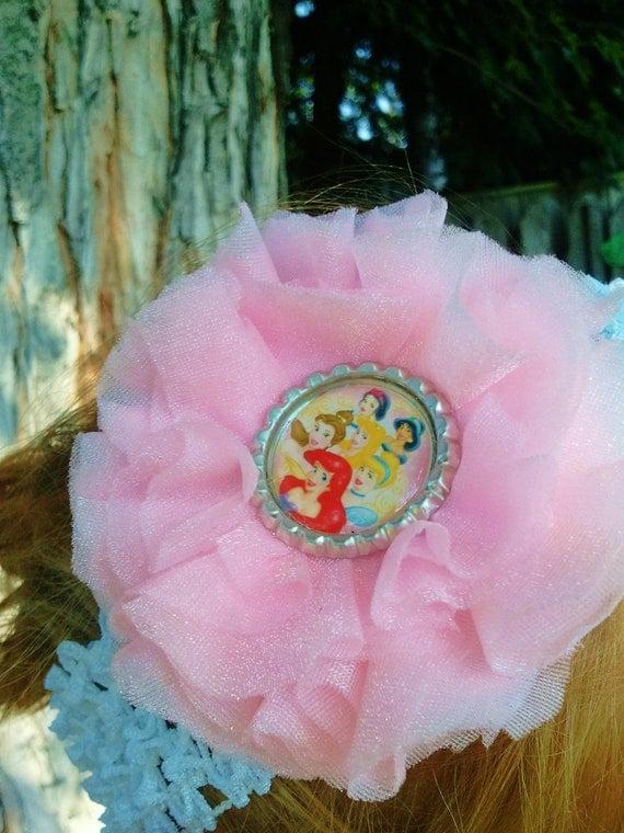 Disney Princess Fabric Hair Flower Clip with Headband Reserved for Angela Harbin