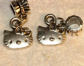 Hello Kitty European Style Sterling Plated Charms