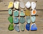 CERAMIC Beach Glass Pottery and Beach GLASS CHARMS Pendants Beach Glass Beads