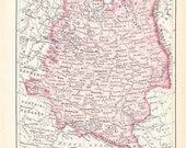 1900 Map Russia - Vintage Antique Map Great for Framing 100 Years Old