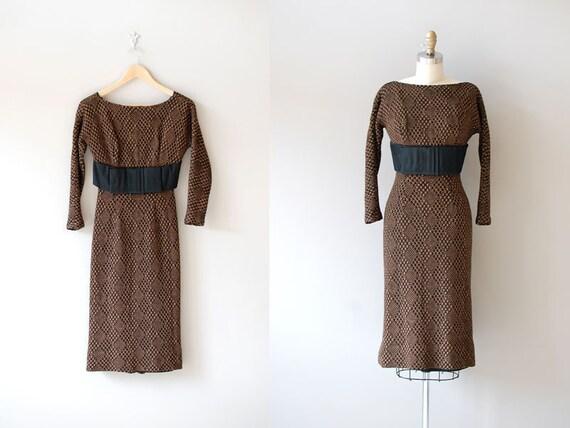 50s dress / knit dress / 1950s wiggle dress / Vision Quest