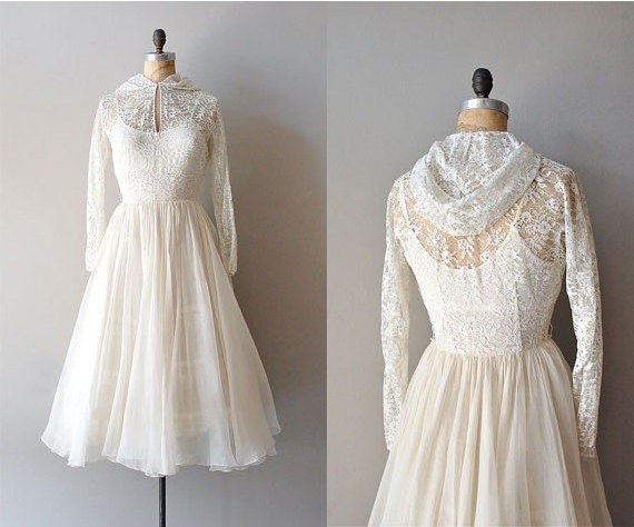 R E S E R V E D...vintage 1940s Wedding Dress / Lace 40s Dress