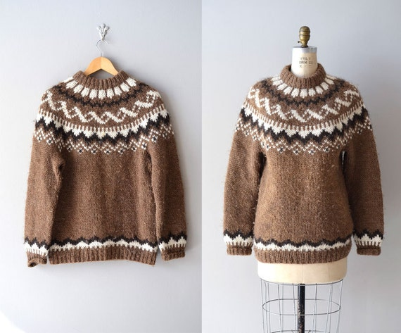 fair isle sweater / folk wool sweater / Dunwoody sweater