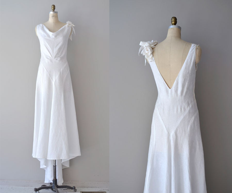 R E S E R V E D...1930s Dress / 30s Wedding Dress / Bonne Lune