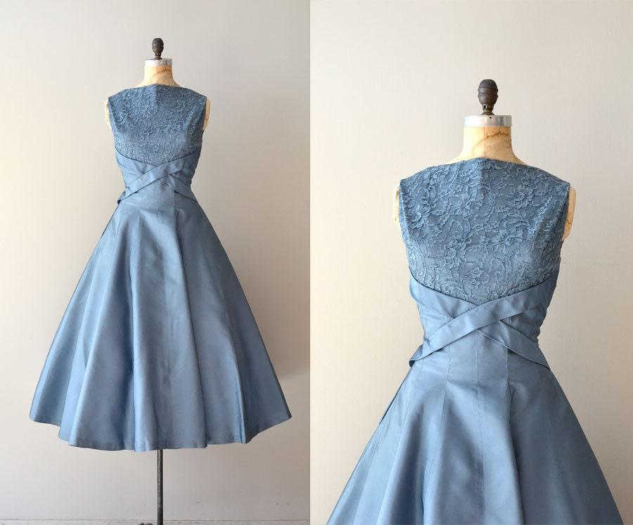 1950s dress / vintage 50s dress / Dream Beyond Time by DearGolden