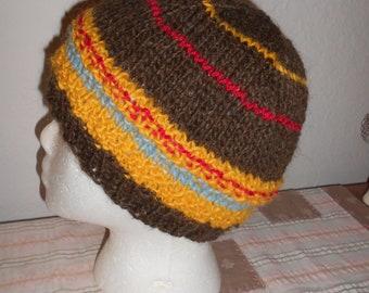 SALE - Hand Knit Wool Hat  Iceland Wool  Warm Wool Hat