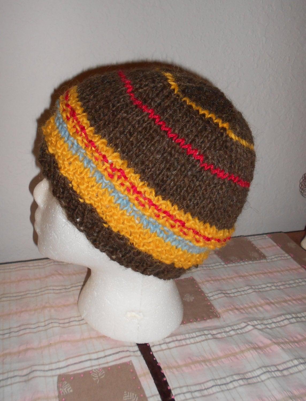 SALE Hand Knit Wool Hat Iceland Wool by LeNidDuMerleHandKnit
