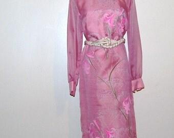 Vintage Dress Pink Shaheen 60s