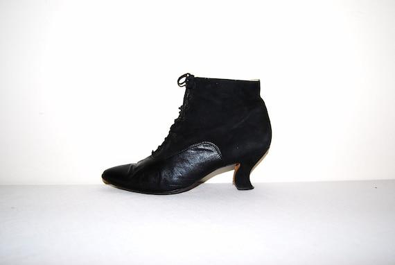 Vintage Boots Black Edwardian
