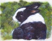 "11 x 17"" Custom Needle Felted Pet Portrait to Frame"