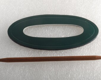 Vintage Green Leather Hair Stick Hair Barrette  Ladies Accessorie