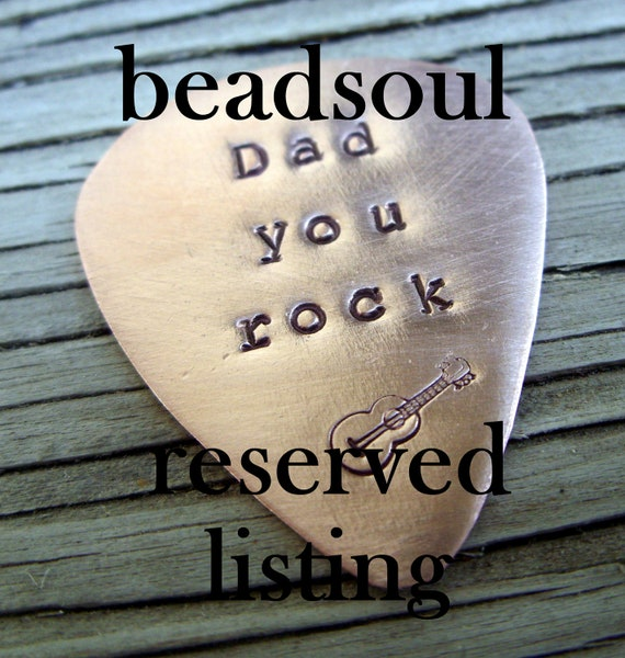 Reserved for Mel- Hand stamped custom guitar pick necklace- 2 nickel silver guitar picks on leather cord