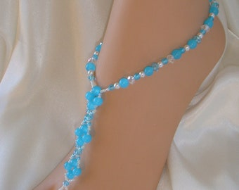 Exquisite Jade Barefoot Sandals Beach Barefoot Jewelry