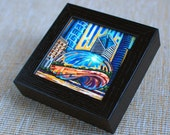 Cloud Gate, Chicago Bean, 5x5 Box Frame Art Print on Canvas