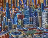 Grant Park, Millenium Park, downtown Chicago 8x10 Art Print by Anastasia Mak