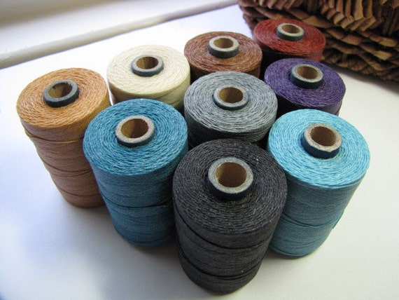 Two Ply Waxed Linen Thread 5 Yards