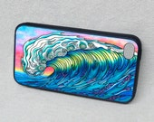 The Wave Surf Art with Dolphins and Fish Rubber iPhone case, cover, iPhone 4, iPhone 5, iPhone 5s, iPhone 6 Plus