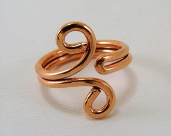 Copper Ring - Any Size, Sterling, Copper, Brass or Bronze