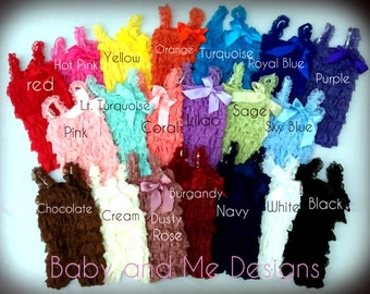 Wholesale Lot of 5  PETI LACE ROMPERS 20 colors size Small- Medium -or Large