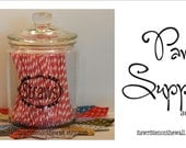 5 Pantry Labels  Cupcake Liners, Straws, Decorating Bags and Tips, Twine and Icing Colors  VINYL LETTERING Wall Saying