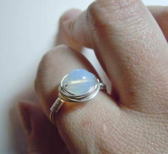 Bella Swan Style Ring Sri Lanka Moonstone Size 8 by madebyfarrah