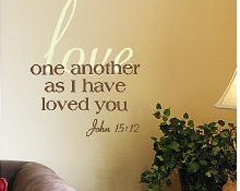 Love One Another Multicolor Layers vinyl lettering wall decal sticker