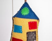 Home Sweet Home Felted Wool Pin Cushion, Wall Hanging, Small Pillow